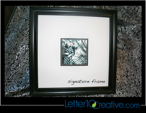 Product: Signature Frames | Letter10 Creative