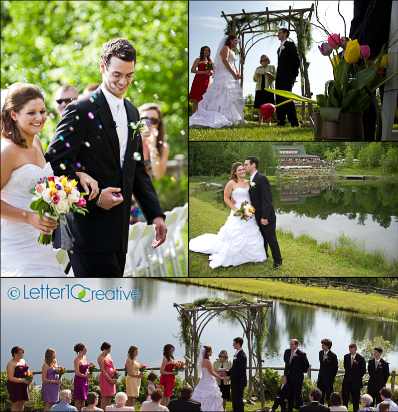 Spring Tulip Themed wedding at The Ponds at Bolton by Vermont Photographers