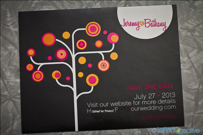 Custom save the date magnates by Vermont invitation designer