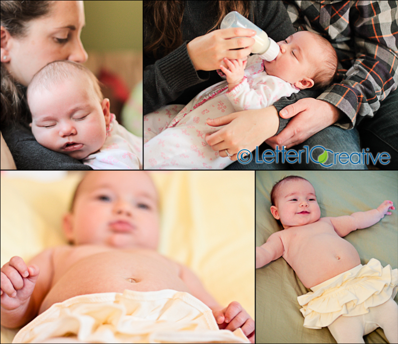 3 month old baby portraits, vermont family photographer in Burlington, Vermont