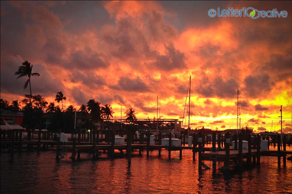 Bahamas Sailing Trip Sunset in Nassau