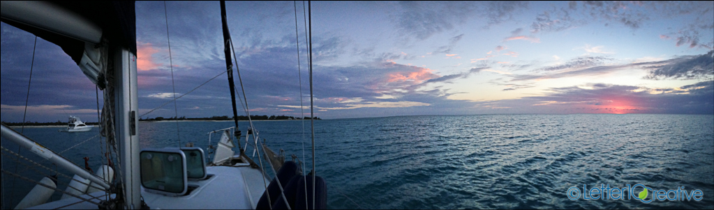 Bahamas Sailing Trip Sunset in Norman's Cay