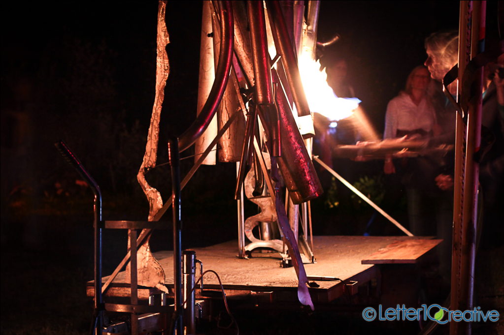 Antoinette Jaconson's Pyrophone at RockFire Event in Barre Vermont