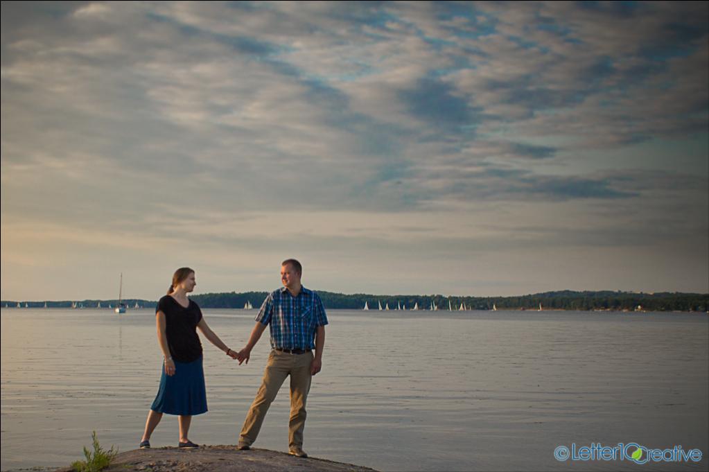 Vermont Wedding Photographers Engagement Session at Shelburne Farms