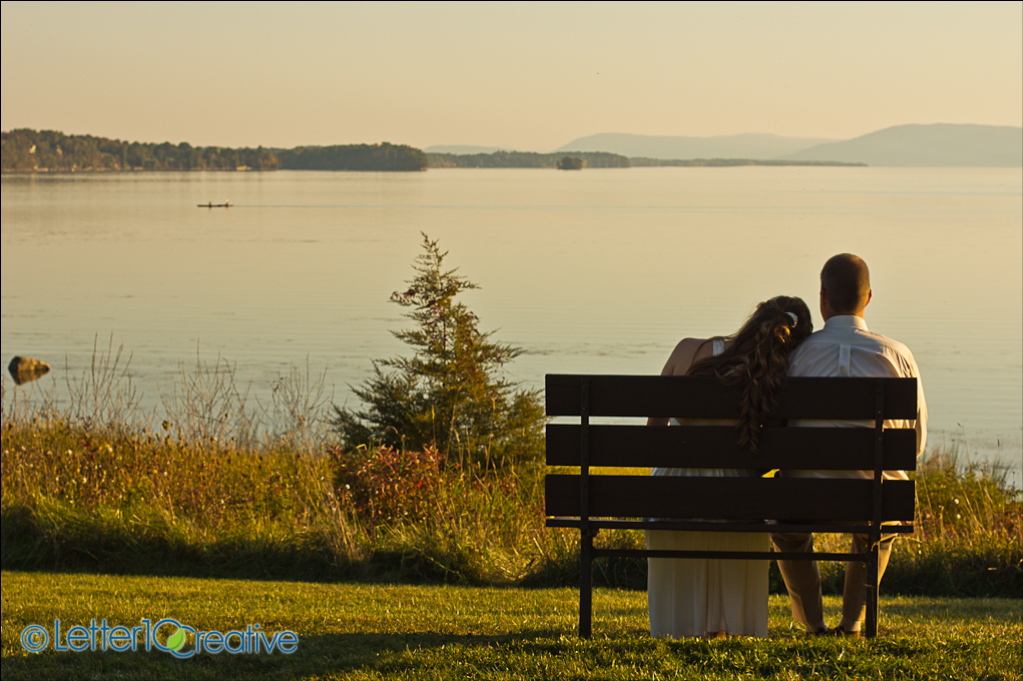 Fall in Vermont Wedding Photographers at Button Bay State Park