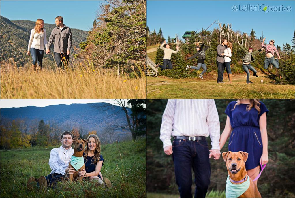 Sugarbush Vermont Fall Engagement Portraits