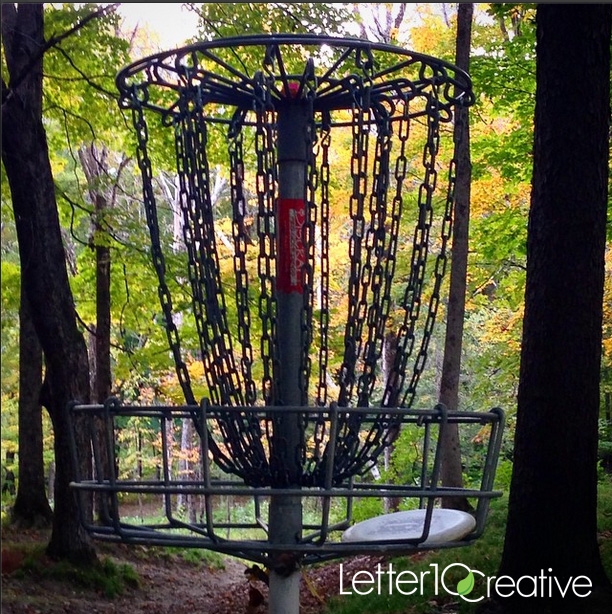 Fall Disc Golf in Vermont Randolph White River Disc Course