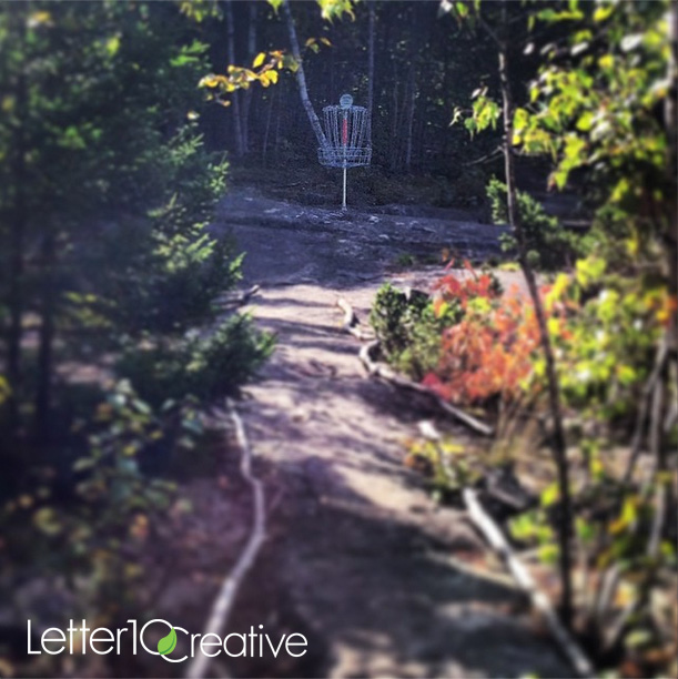 The Quarries Disc Golf in Websterville Vermont in the Fall