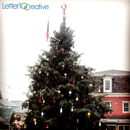 Christmas Tree in Kennebunk Maine