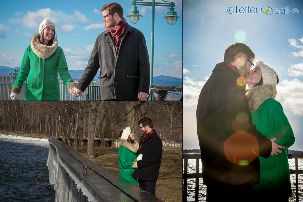Burlington Vermont Winter Engagement Session with Letter10 Creative