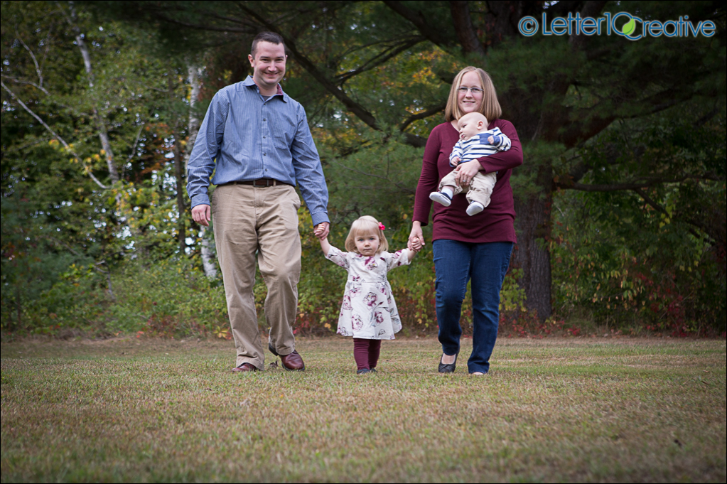 Fall family portraits by Vermont portrait photographer Letter10 Creative