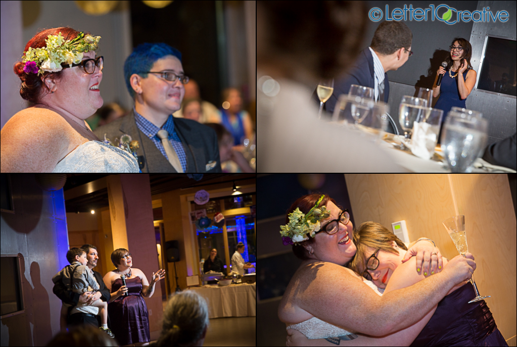 Echo Lake Aquarium Wedding in Burlington Vermont by Letter10 Creative