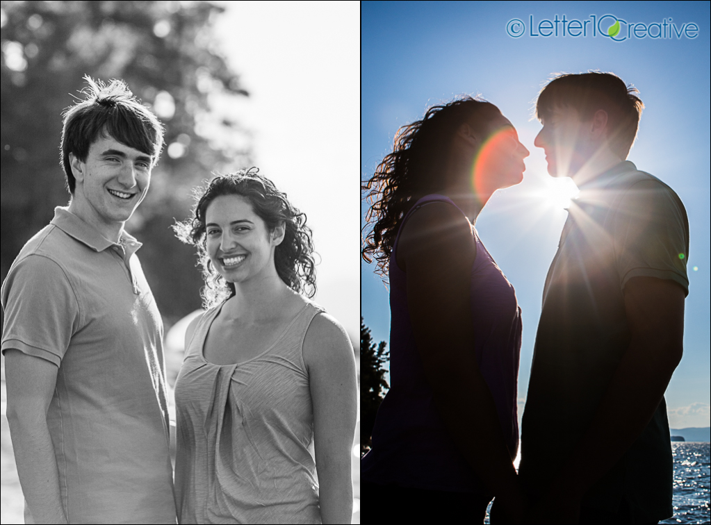Engagement Portraits at Oakledge Park in Burlington Vermont by Letter10 Creative