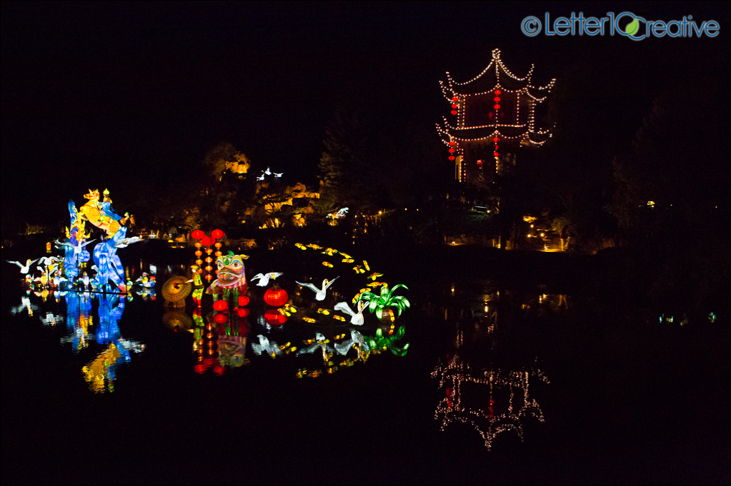 Montreal Bontanical Gardens Gardens of Light by Letter10 Creative