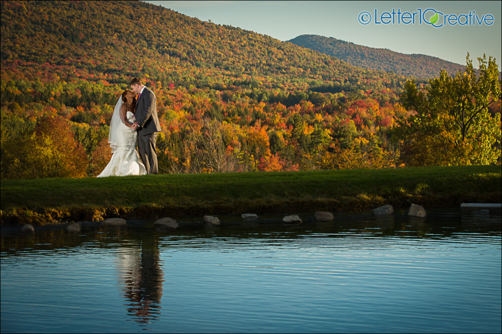 Fall Wedding in Stowe Vermont Peak Foliage by Letter10 Creative Vermont Photographers