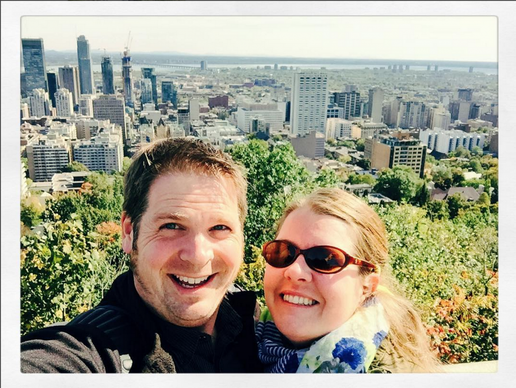 Selfie atop Mount Royal Park in Montreal by Letter10 Creative Jaime Brassard