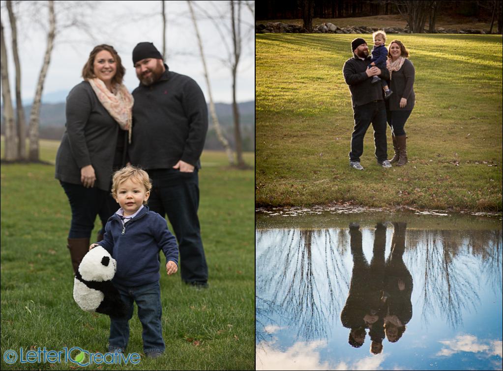 Family Portraits at Isham Family Farm in Williston by Vermont Family Photographer