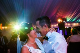 colorful first dance by Vermont wedding photographers