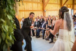 Wedding Ceremony tie the knot at Jay Peak in Vermont
