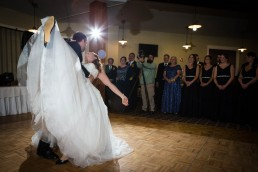 Okemo Wedding First Dance Dip by Vermont Photographers