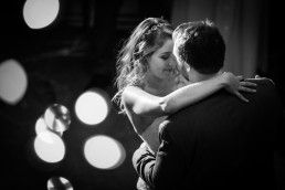 couples first dance black and white image at Alerin Barn in Vermont