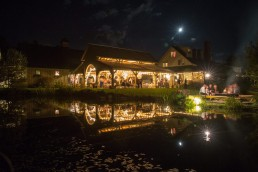 The Alerin Barn in Vermont at night