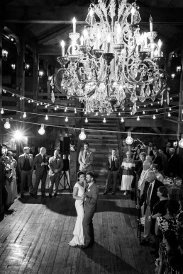 Black and white wedding first dance by Vermont Photographers
