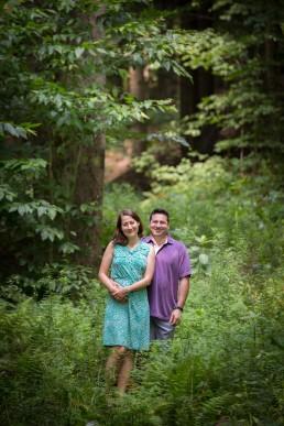engagement portrait in montpelier vermont featuring woods