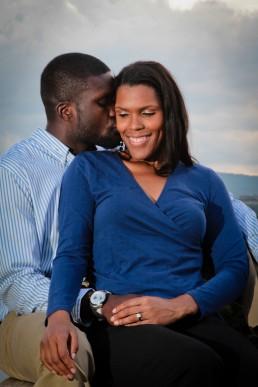 black couple engagement portrait taken in montpelier vermont