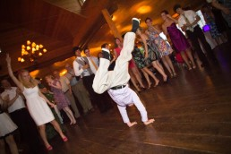 kid breakdancing at The Ponds in Bolton wedding reception