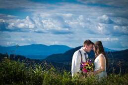 Fun mountain wedding candid wedding portrait in Barre, Vermont
