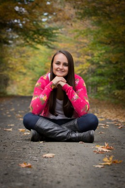 A fall Vermont senior portrait captured in Montpelier.