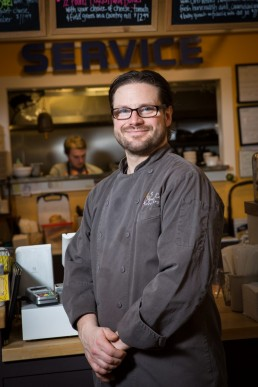 a personal branding headshot portrait of a chef in Vermont