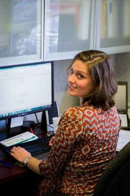personal branding image of a woman working at the computer