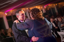 Saratoga Polo Wedding candid of groom and mother first dance at reception