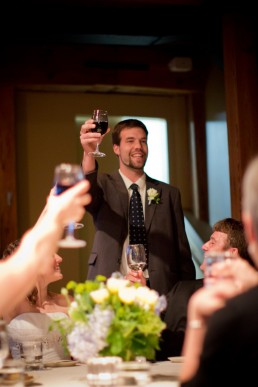 Toasts to the new wedding couple a Simon Pearce in Queechee, Vermont