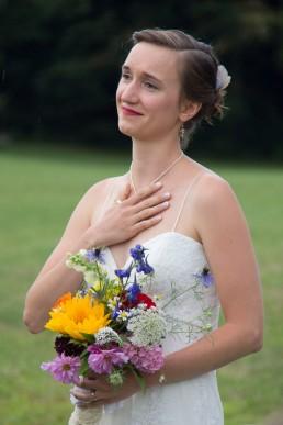 Vermont bride speechless at wedding ceremony in Starksboro