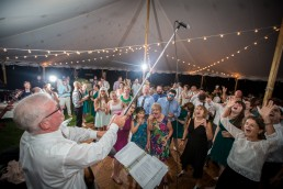 Live band wedding reception fun at the Catamount Center in Vermont