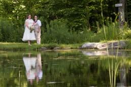summer gay wedding at Sleepy Hollow in Huntington Vermont